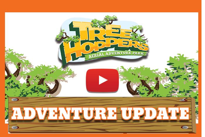 Treehoppers zip line ropes. Clipart park adventure park