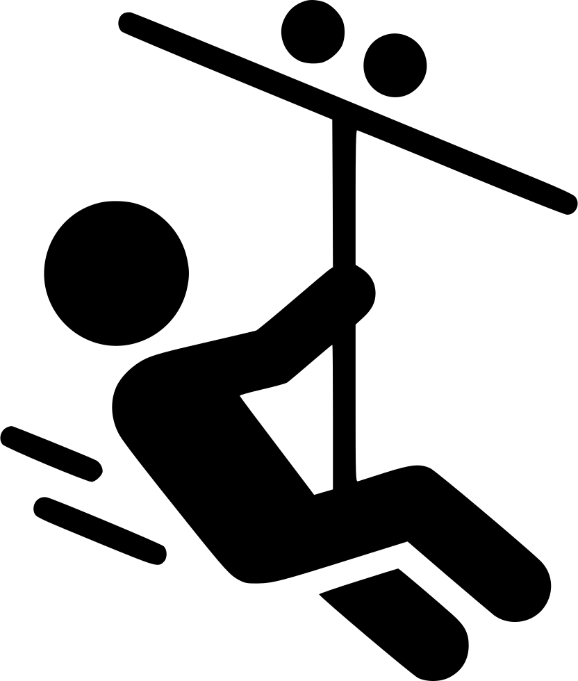 Zipper clipart outline. Zip line adventure park