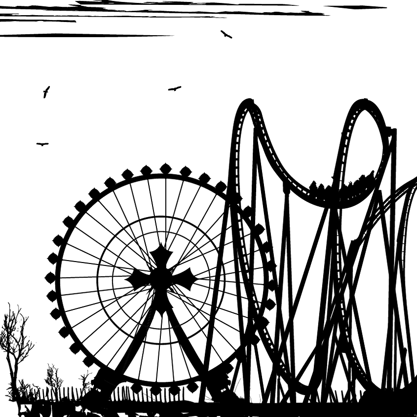 Rollercoaster transparent background