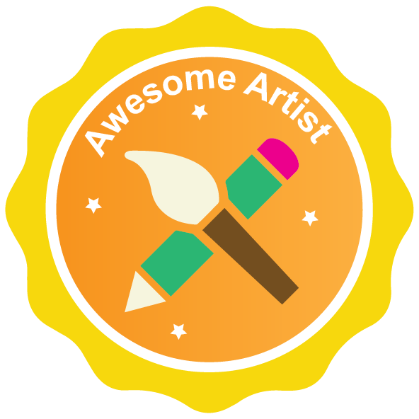 Hero clipart badge. Artistic endeavors district of