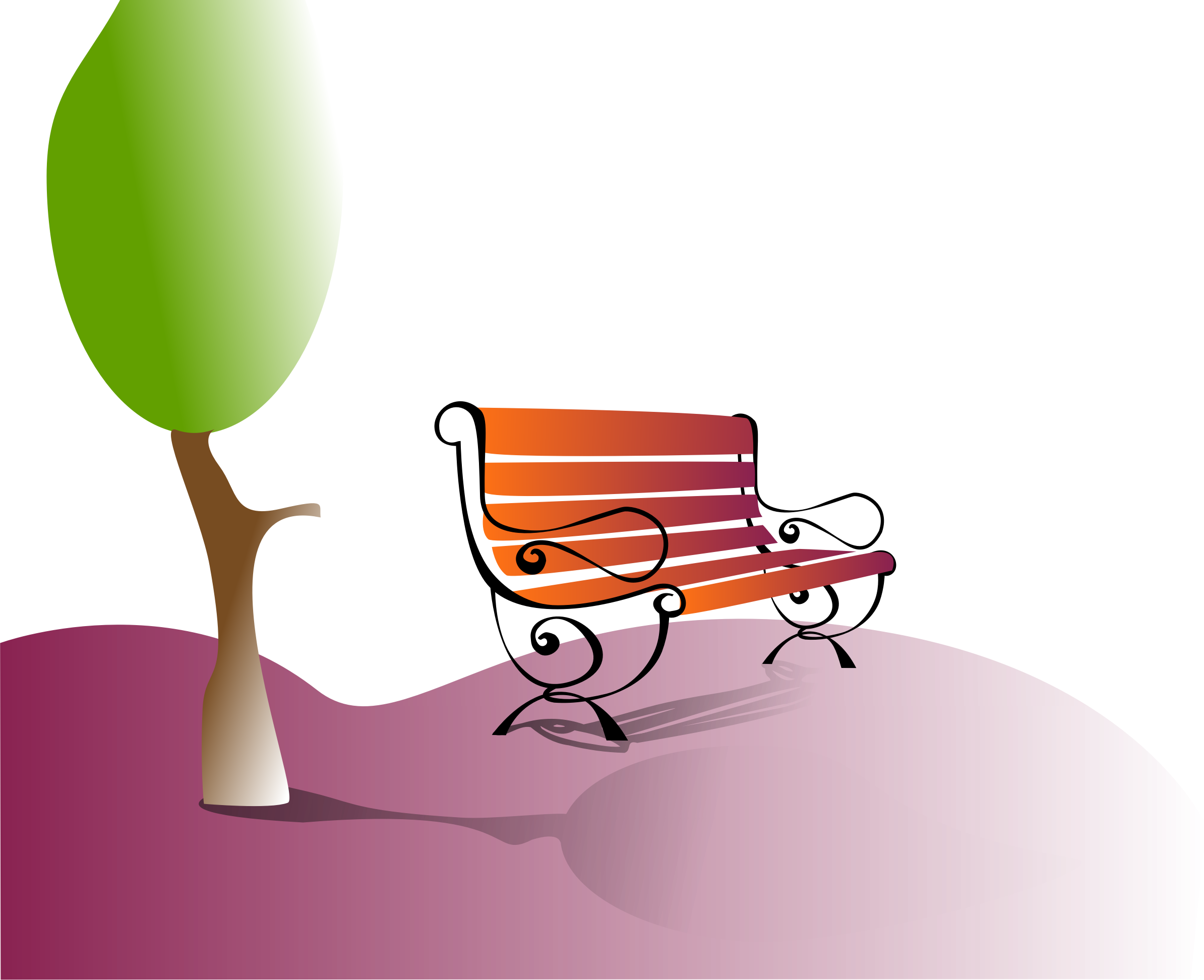 Clipart park bench clipart. Best places to meet