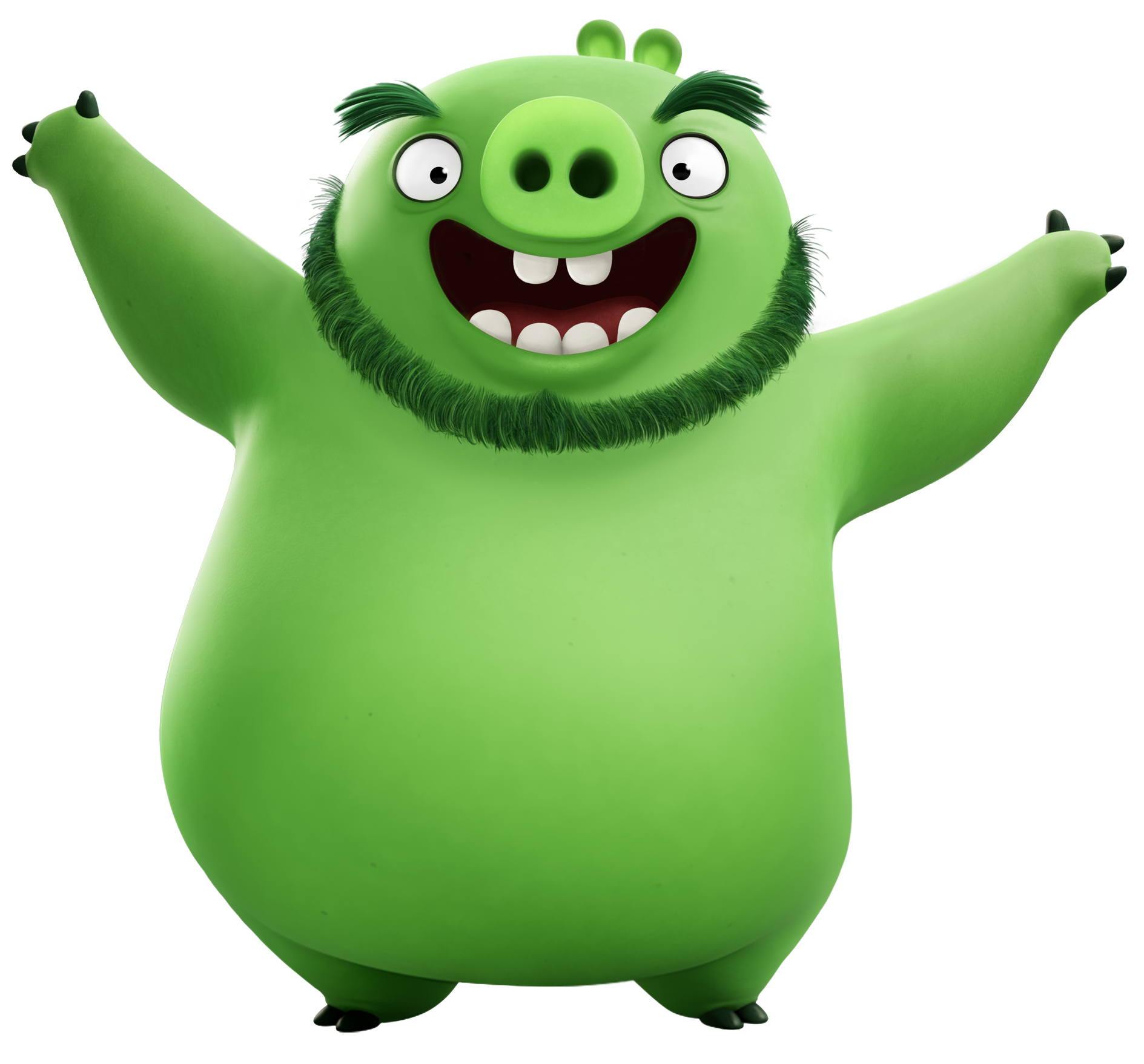 Man clipart pig. For u angry bird