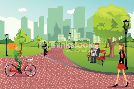 A vector illustration of. Clipart park city park