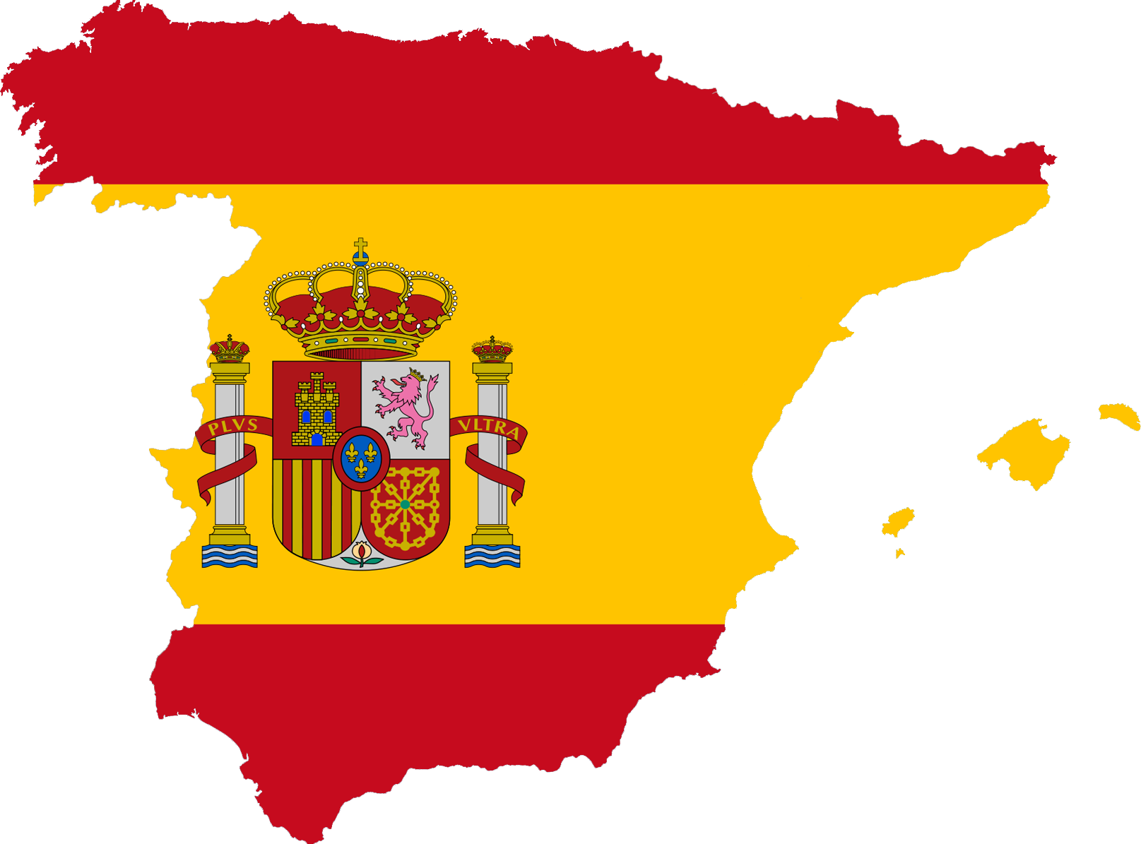 Spain only to see. Europe clipart traceable