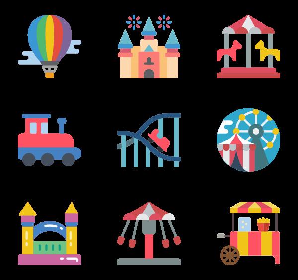 playground icon packs. Fair clipart theme park