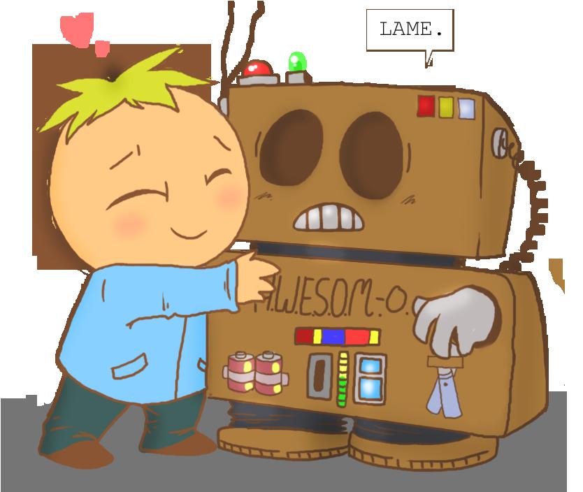 My robot by pistachiozombie. Park clipart friend cartoon