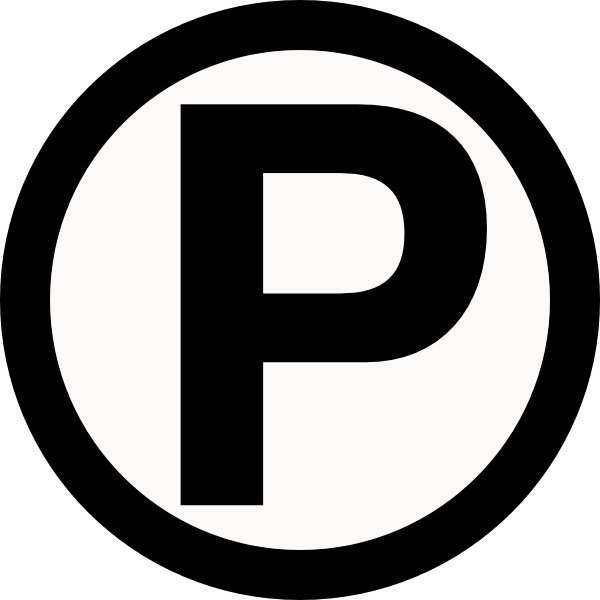 Parking icons png vector. Clipart park icon