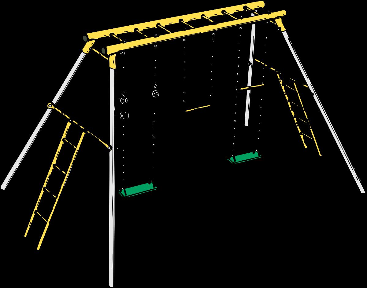 Clipart park jhula. Swing set panda free