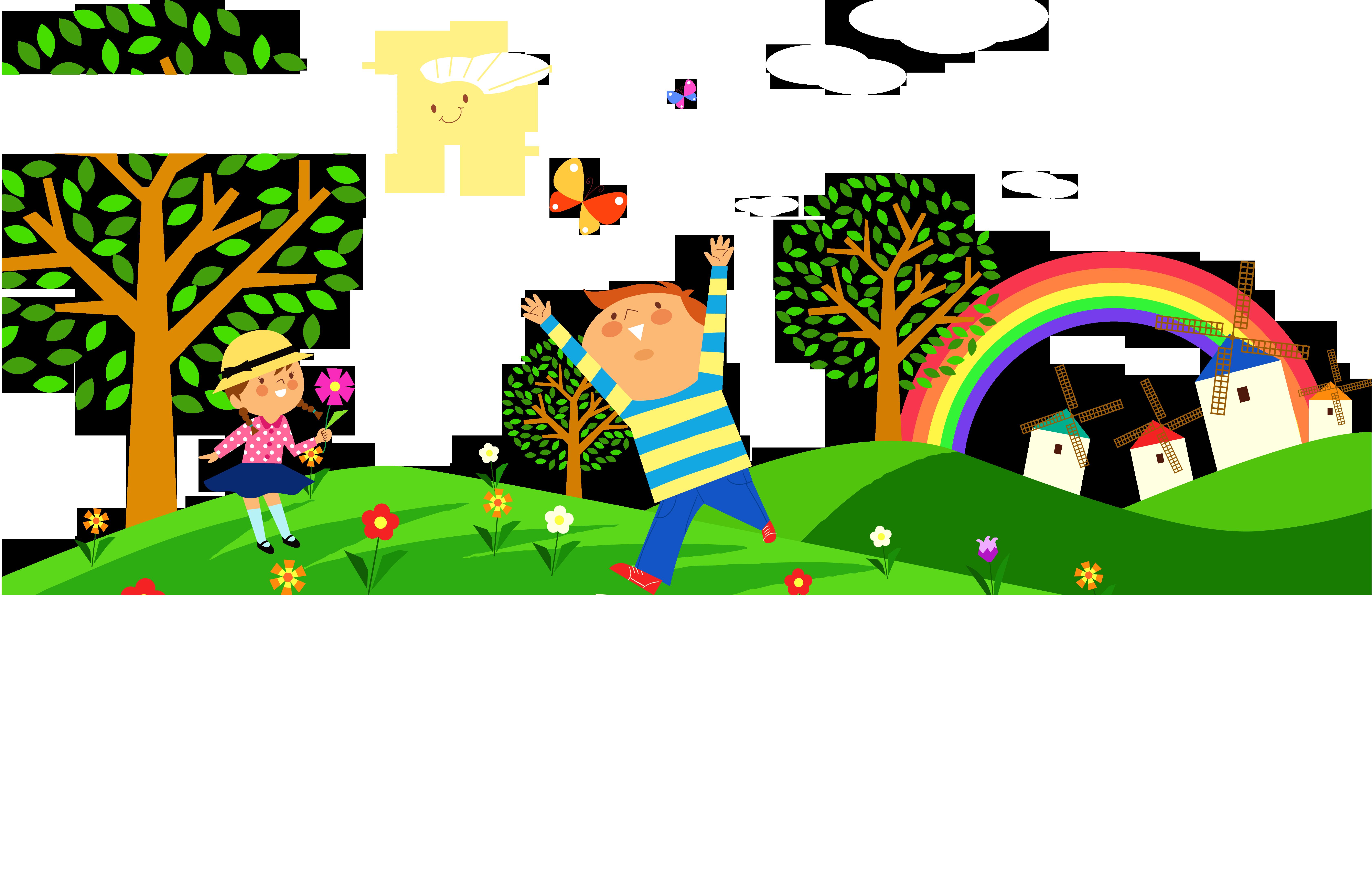 Clipart park natural environment. Child clip art cartoon