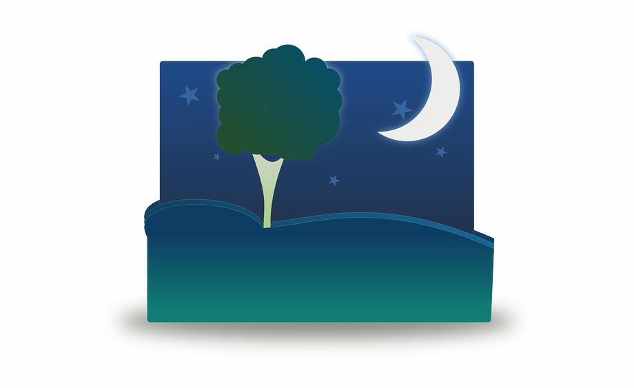 Starry sky transparent at. Park clipart night clipart
