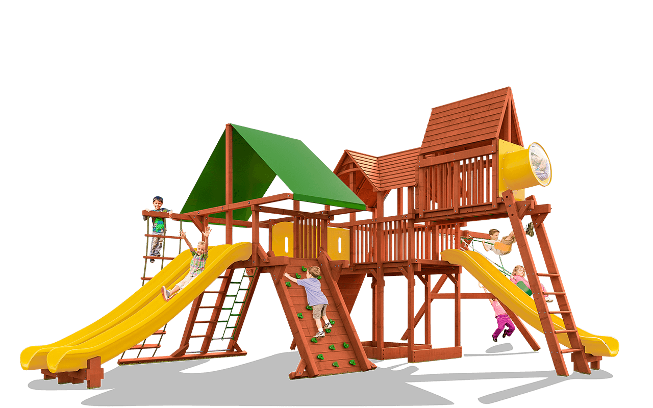 Megaset woodplay playsets . Clipart park outside playground