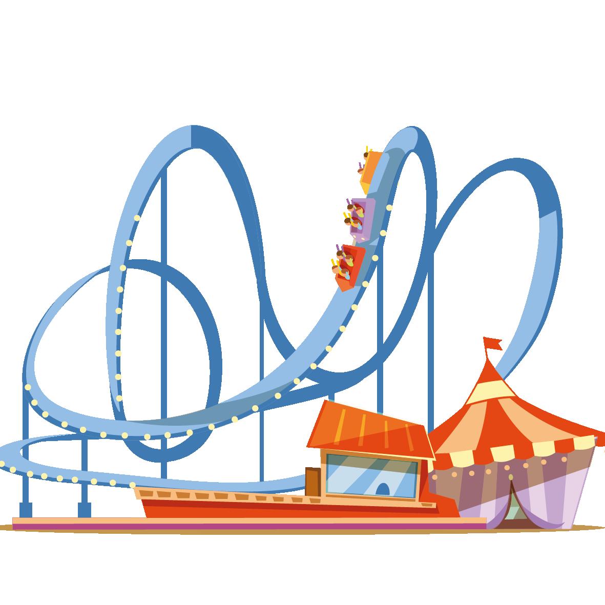 Coney island universal orlando. Rollercoaster clipart theme park