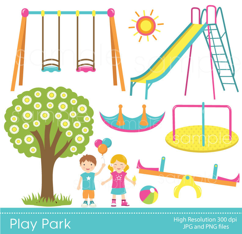Clipart park park party. Popular items for birthday