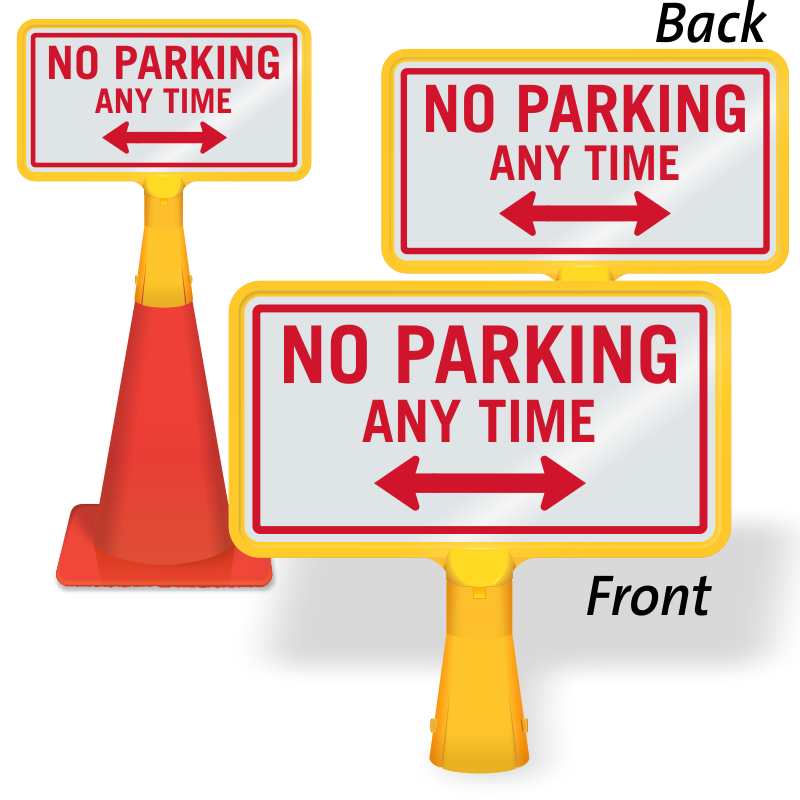 Coneboss signs for traffic. Parking lot clipart two wheeler