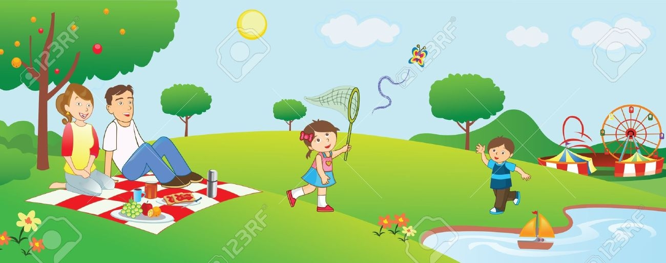 Clipart park picnic. Free family cliparts download