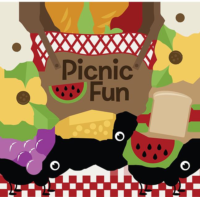 Fun svg cutting files. Clipart park picnic