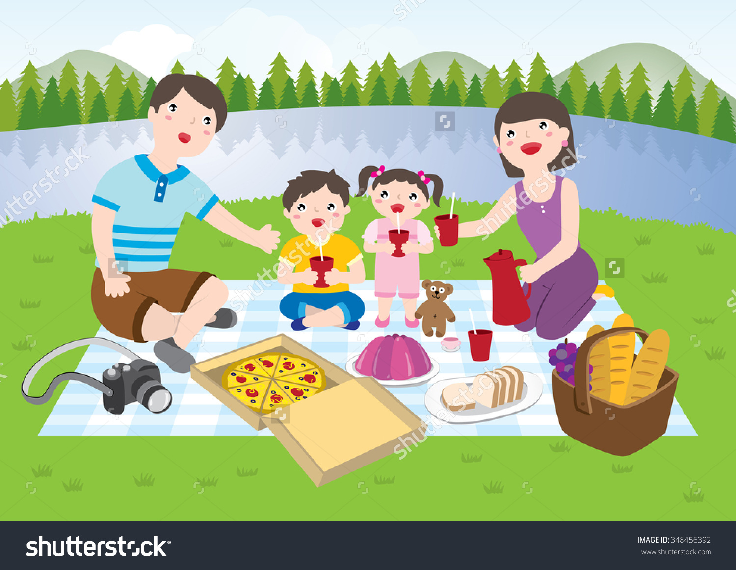 Picnic clipart mountain. Free family cliparts download