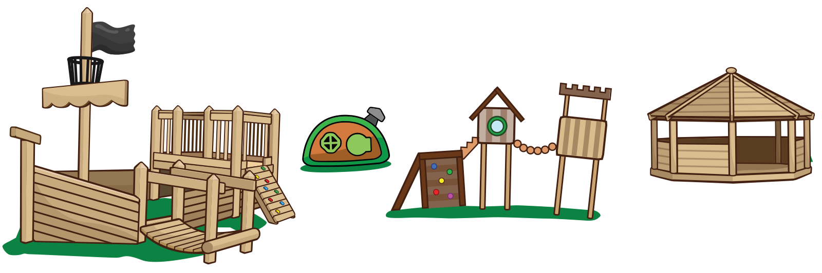 School childrens nursery outdoor. Outside clipart playground equipment
