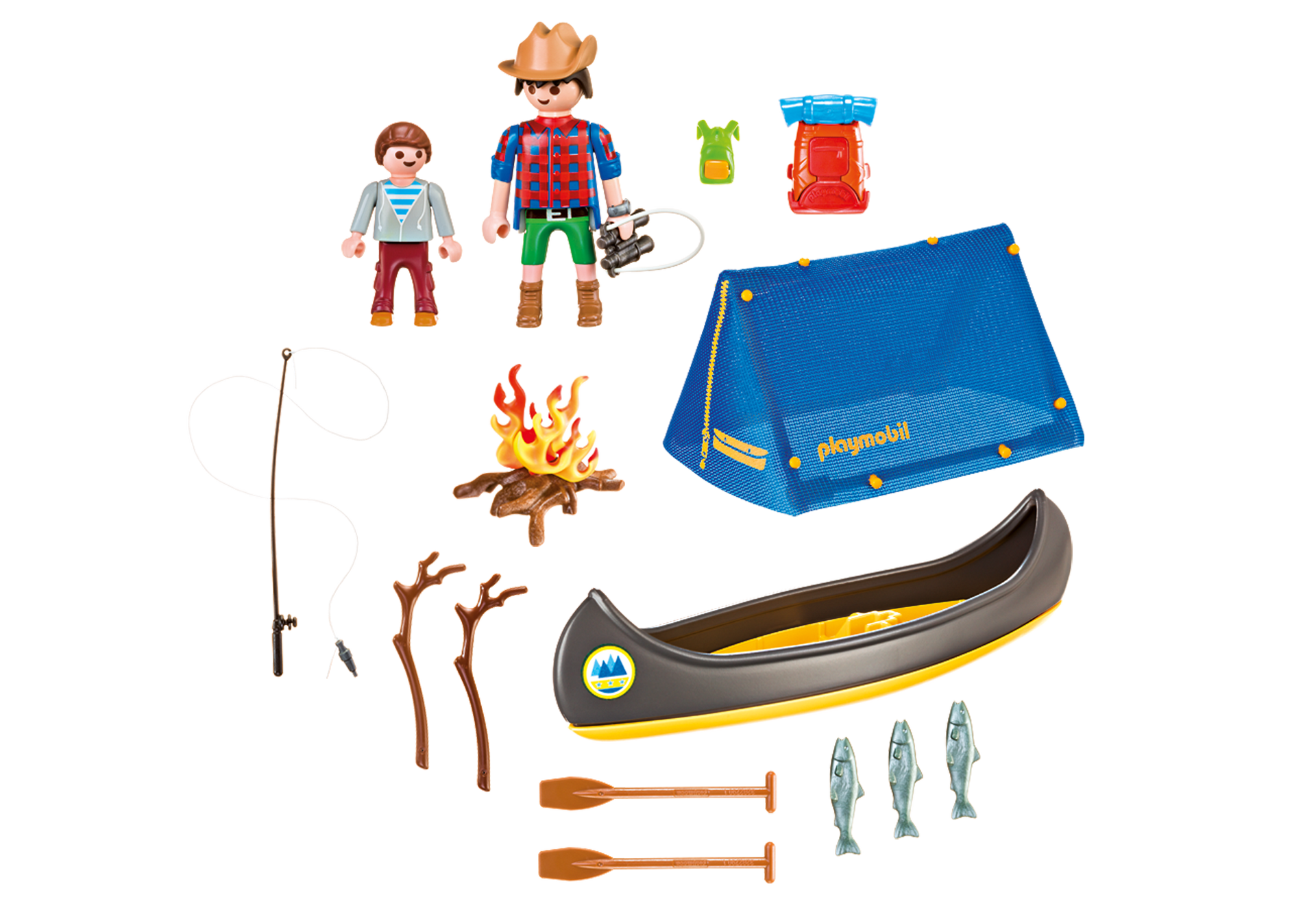 Camping adventure carry case. Clipart winter campfire
