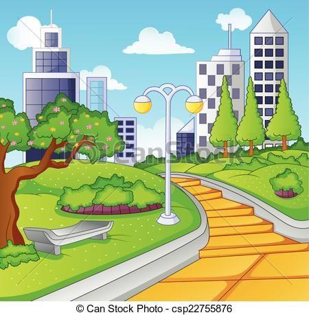 Bench illustration clip art. Clipart park public park