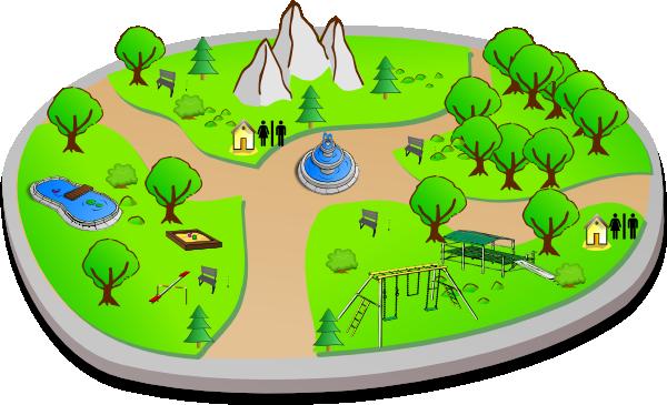 Free cartoon download clip. Clipart park public park