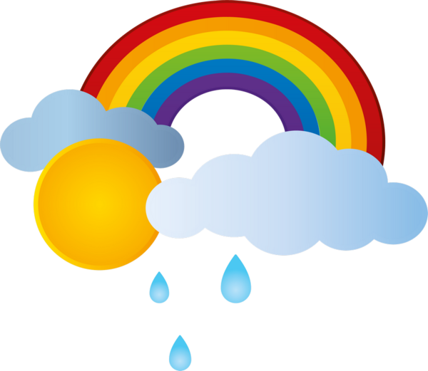 Arc en ciel arco. Clipart park rainbow