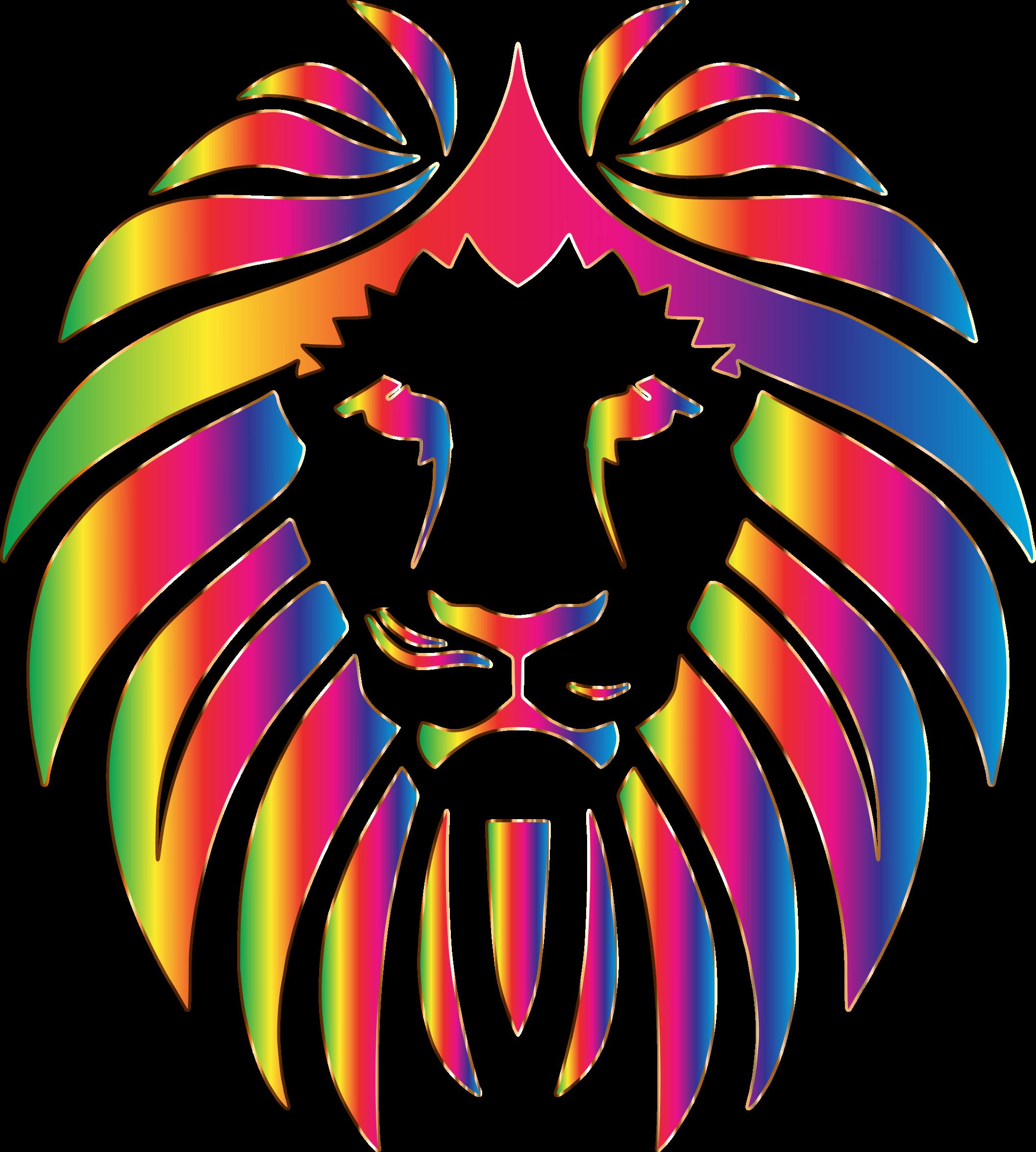 Lion frames illustrations hd. Clipart park rainbow