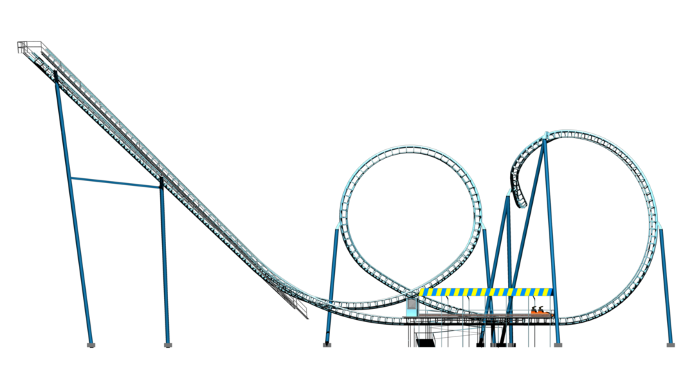 Rollercoaster clipart cartoon, Rollercoaster cartoon ...