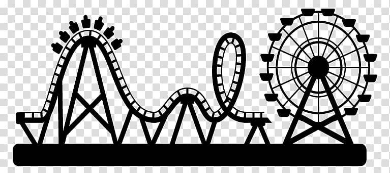 Rollercoaster clipart theme park. Amusement roller coaster water