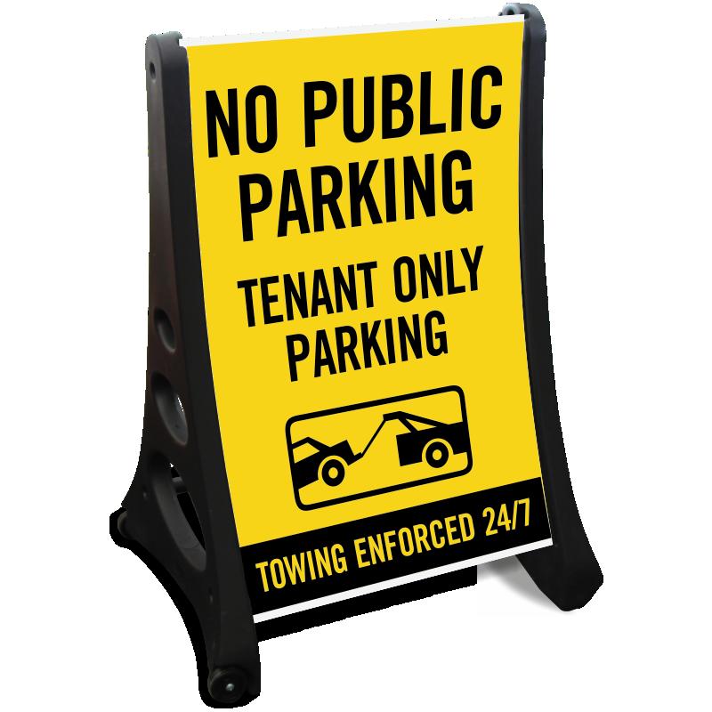Temporary no parking signs. Clipart park sidewalk