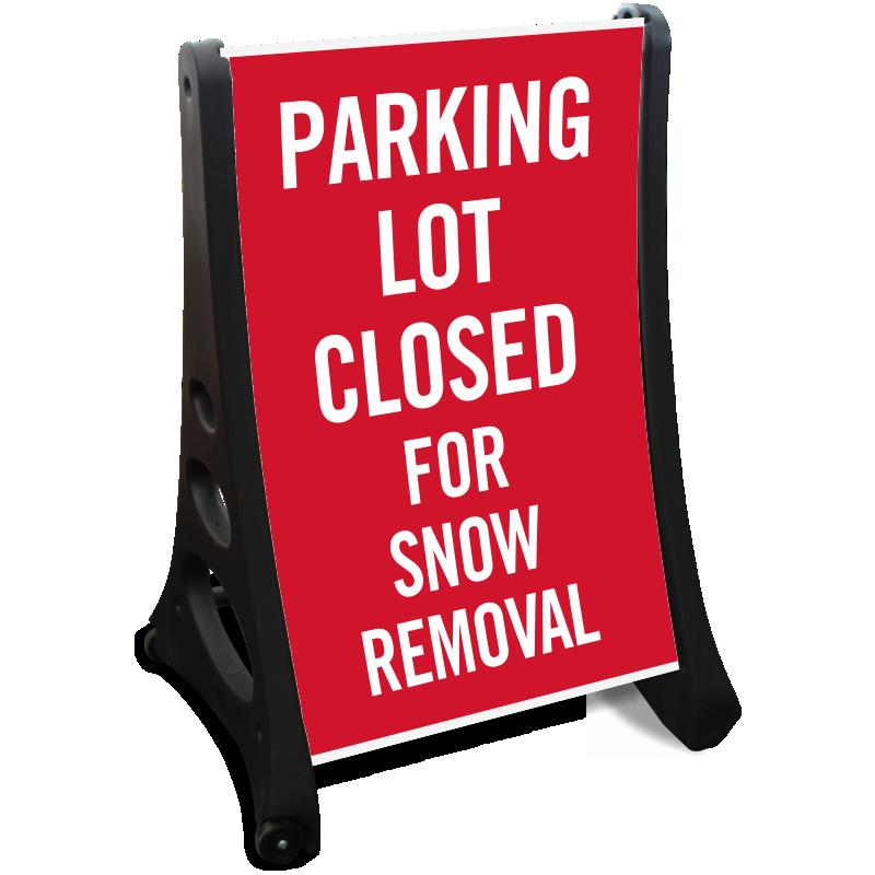 Parking lot closed signs. Clipart park sidewalk