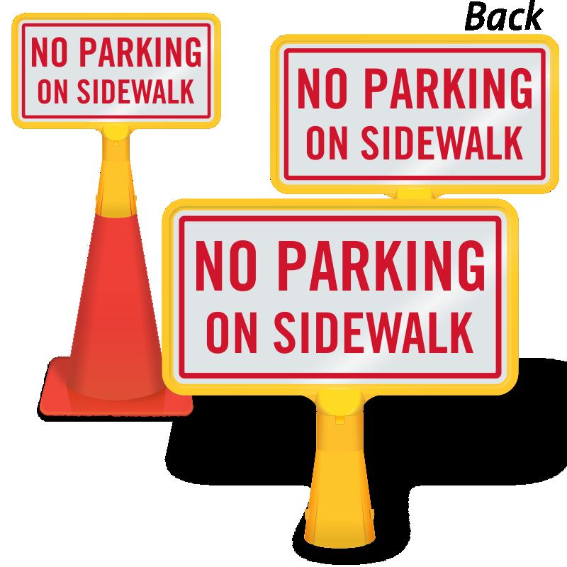 No parking on signs. Clipart park sidewalk