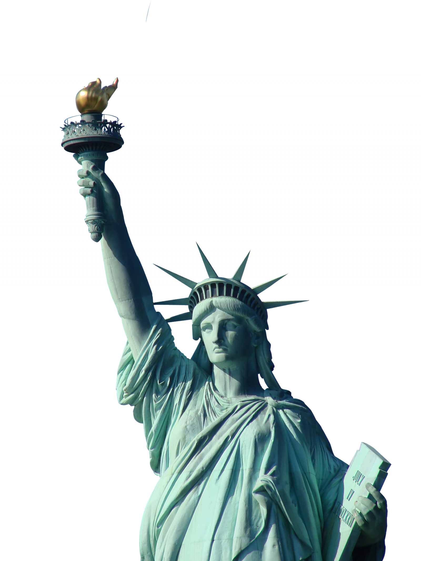 Statue of liberty png. Freedom clipart broken chain