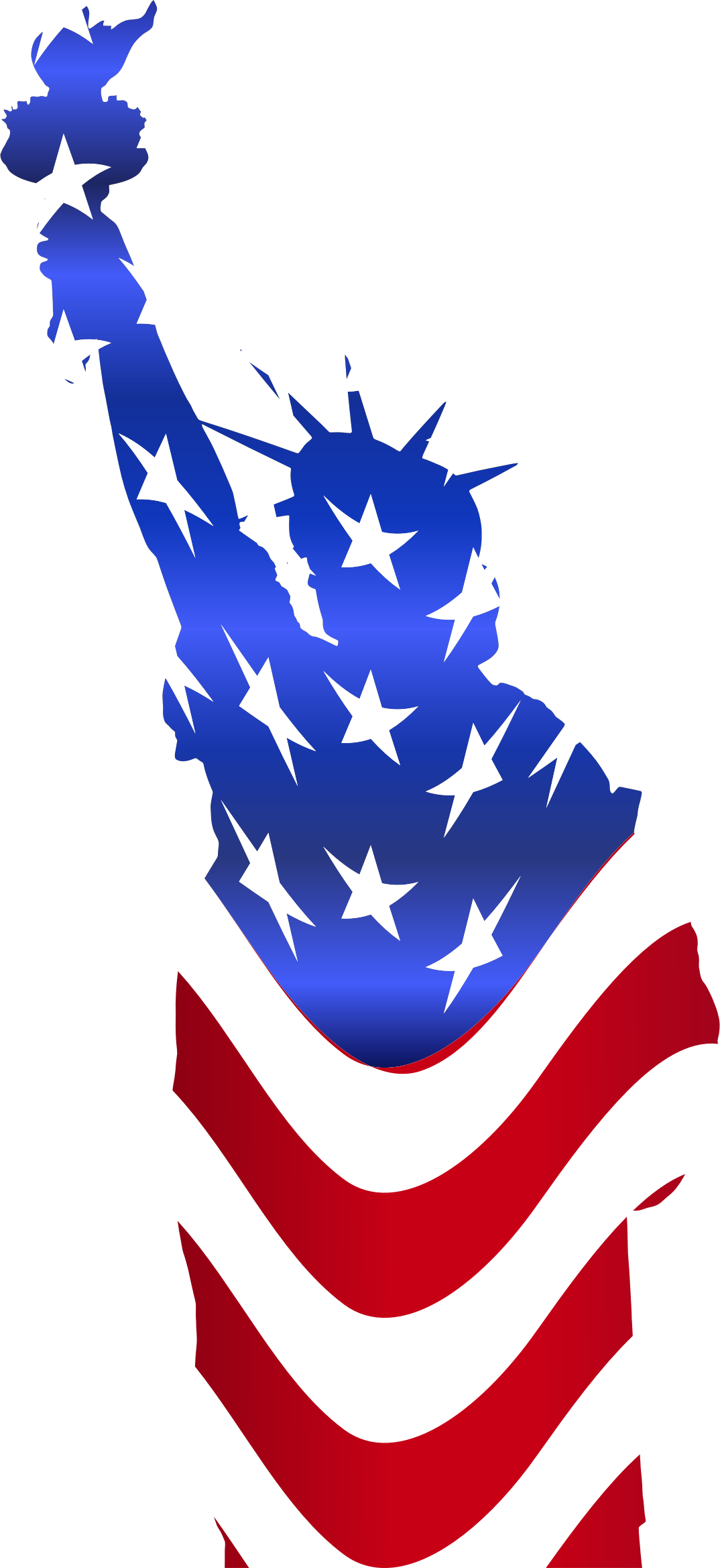 Statue of liberty flag. United states clipart blue