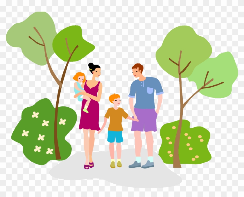 Hiking in the park. Hike clipart nature walk