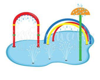 Park clipart water park. Splash pad clip art