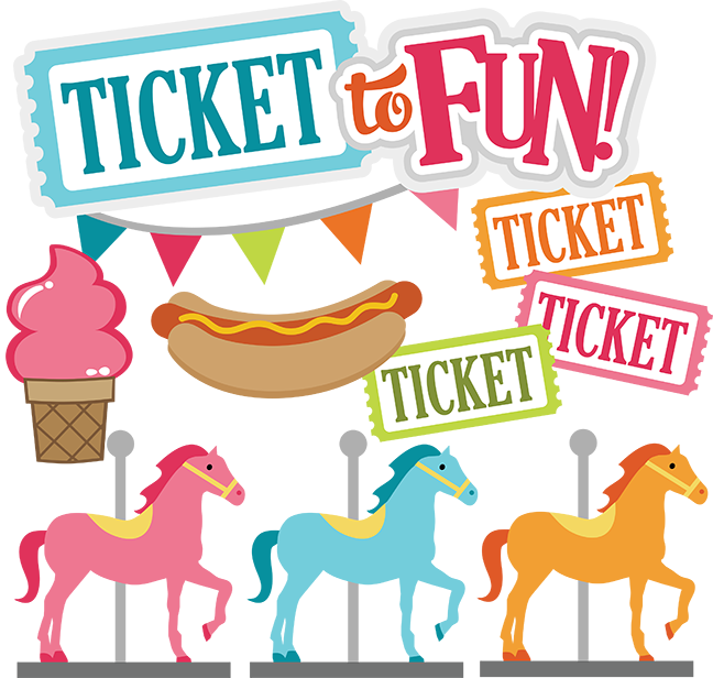 Raffle clipart carnival. Ticket to fun svg