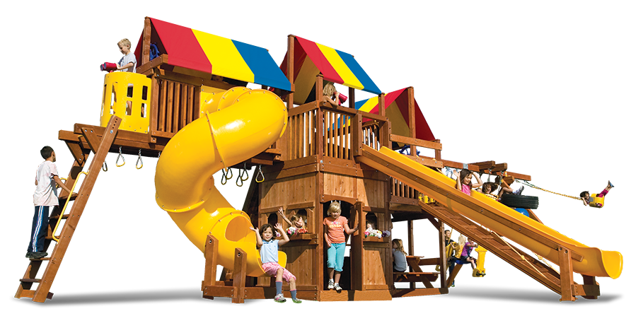 Playground clipart spiral slide. Rainbow playset king kong
