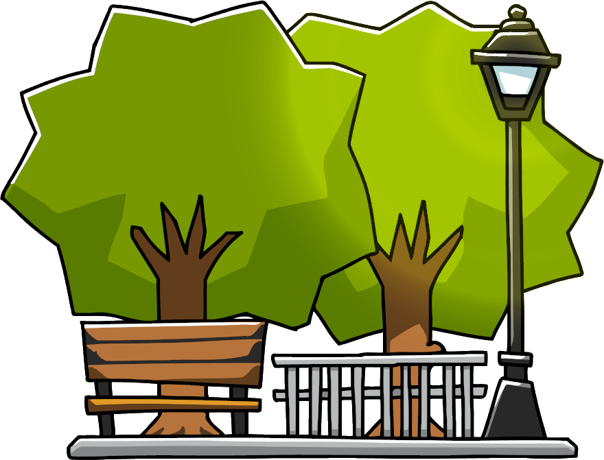Restaurants clipart scribblenauts.  collection of park