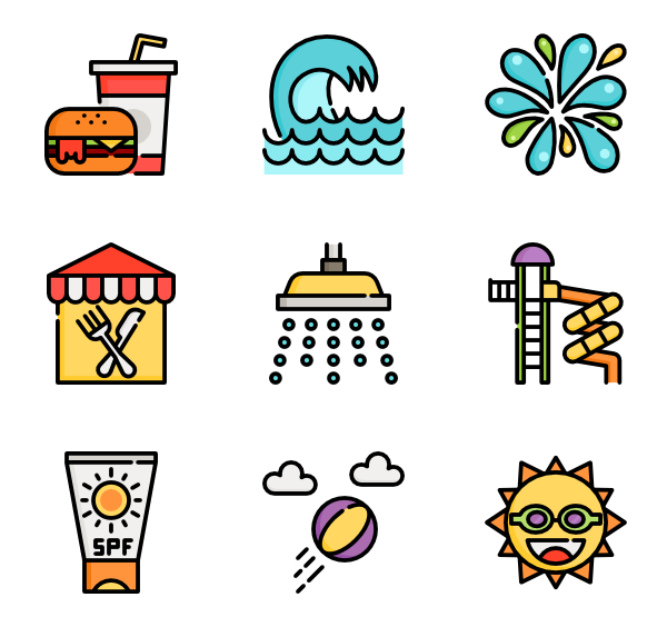 Clipart park water park.  icon packs vector