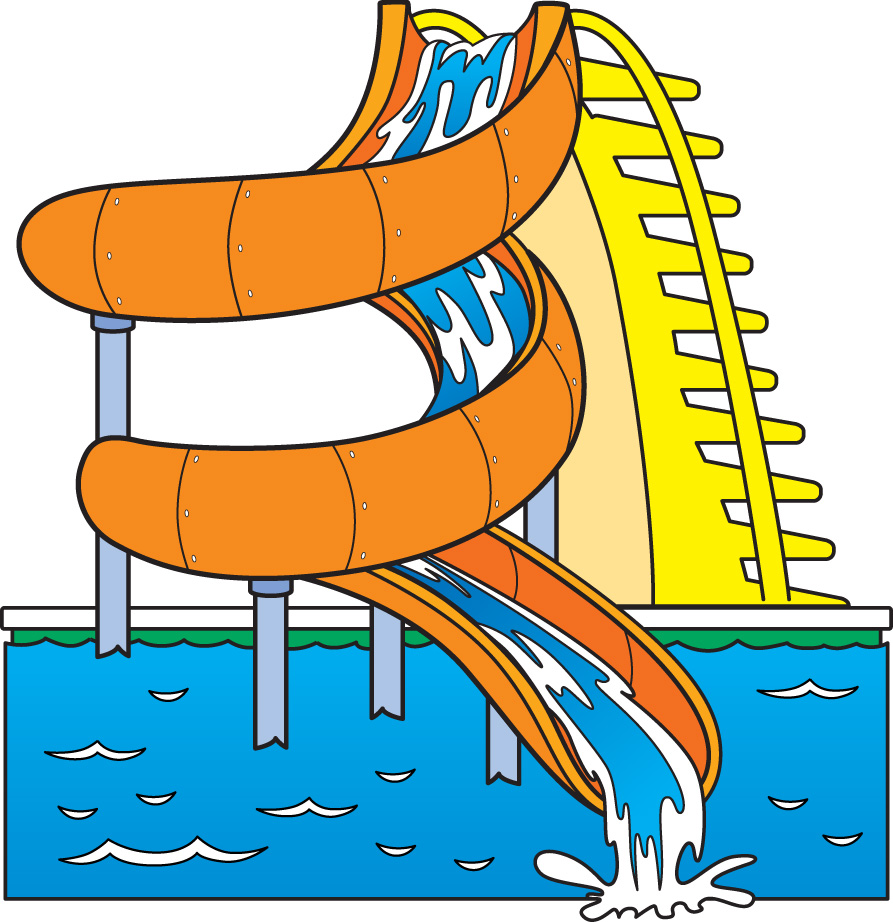 Water clipart water slide. Free park cliparts download