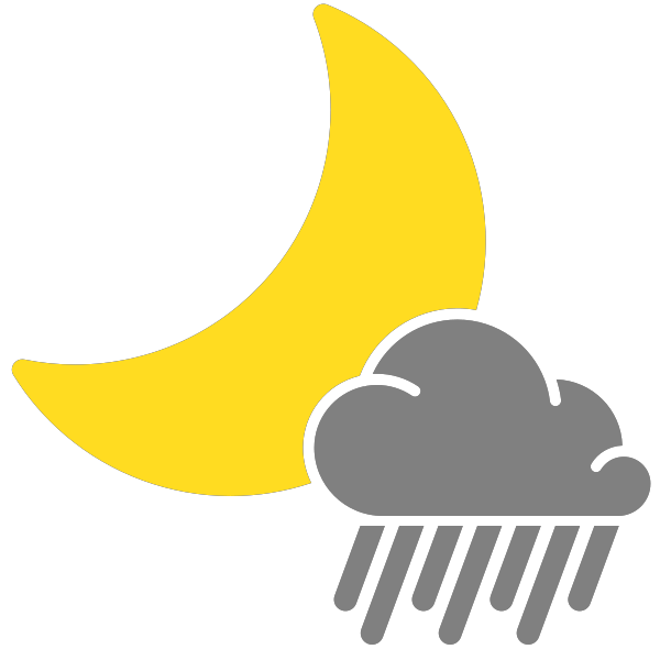 Simple weather icons scattered. Night clipart svg