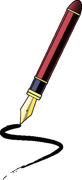 Ink clip art at. Clipart pen