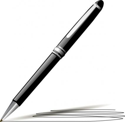 Clipart pen. Black and white panda