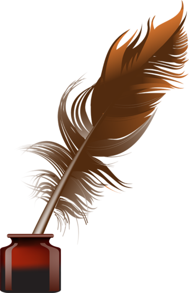 Inkwell hdq cover for. Feather clipart paper