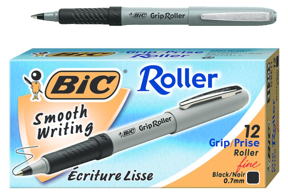Bic grip roller ball. Markers clipart pen pentel