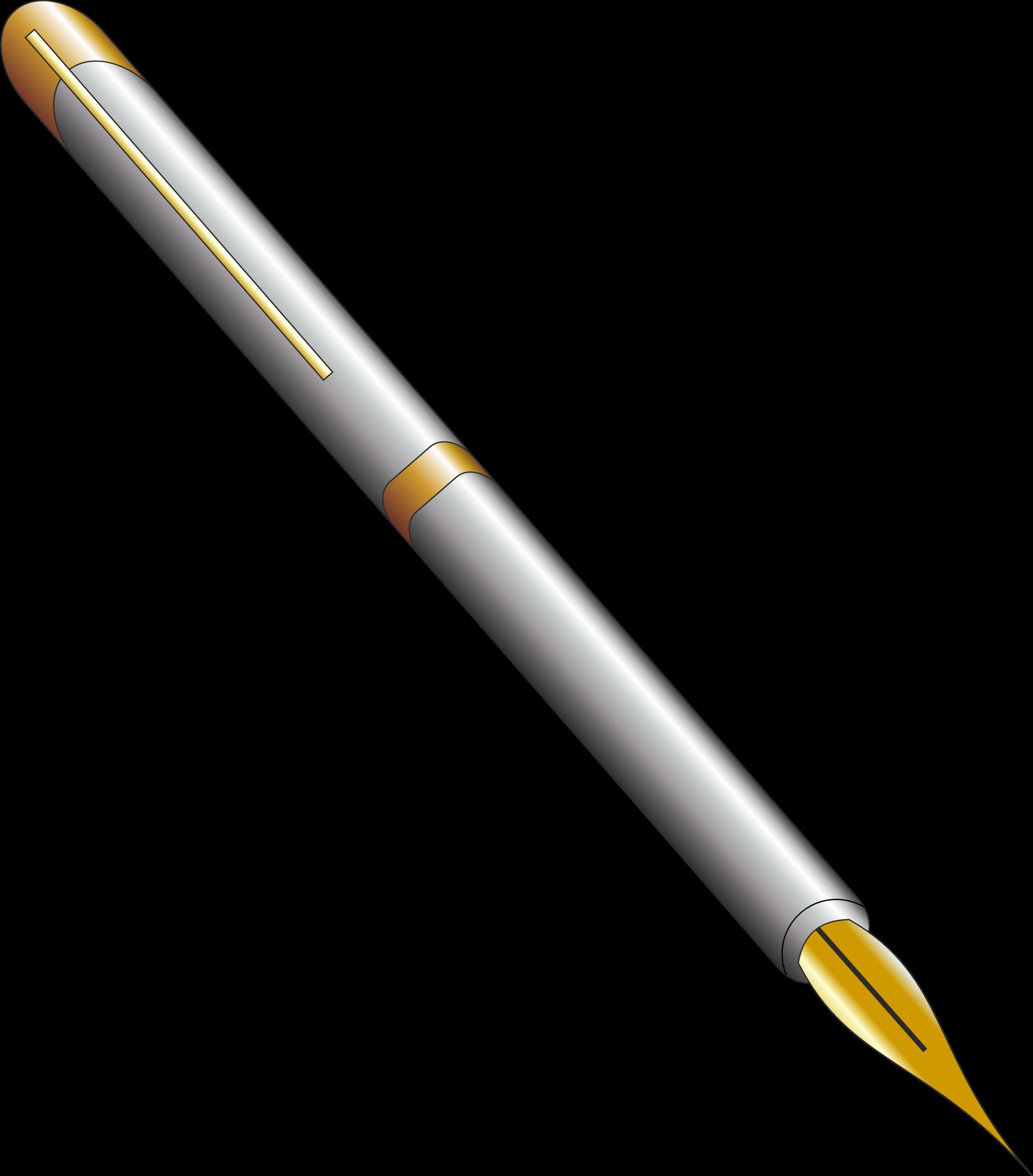 Clipart writing pencil. Fountain pen big image