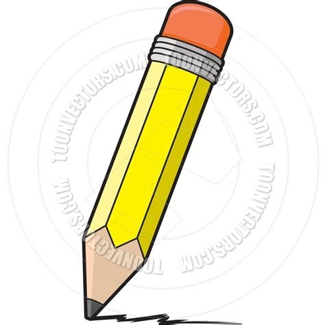 Pen cartoon and in. Clipart writing pencil