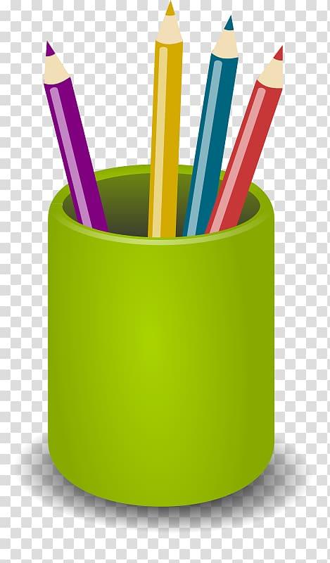 Clipart pencil pen. Cases colored transparent
