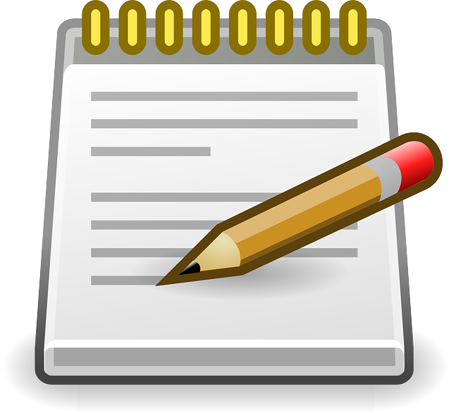 Tips for note taking. Clipart pen down